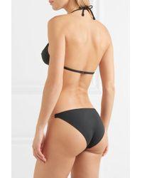 Culotte De Bikini À Finitions Métallisées Sequin Eres en coloris Black