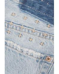 Ksubi Blue App-laye Jeansshorts Mit Distressed-details