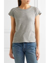 Re/done Gray + Hanes 1960s Cotton-jersey T-shirt
