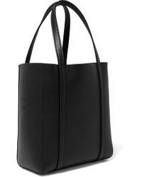 Balenciaga Black Everyday Mini Bedruckte Tote Aus Strukturiertem Leder