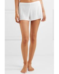 Skin White Drea Ribbed Modal Pajama Shorts