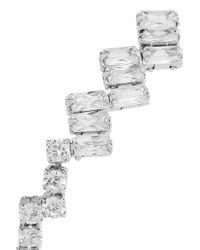 Kenneth Jay Lane Metallic Silver-tone Cubic Zirconia Earrings