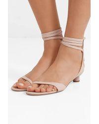 Tibi Pink Scott Glove Sandalen Aus Leder