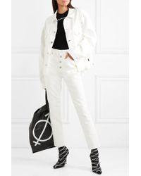 Balenciaga White Jeansjacke In Oversized-passform