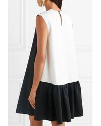 Roksanda - Black Fuji Two-tone Cady And Crepe Mini Dress - Lyst