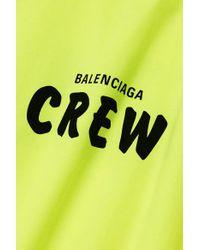 Balenciaga Yellow Neonfarbenes Oversized-t-shirt Aus Baumwoll-jersey Mit Print