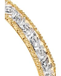 Buccellati Metallic 18kt White Gold Diamond Band Ring