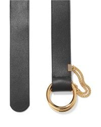 Chloé - Black Carly Textured-leather Waist Belt - Lyst