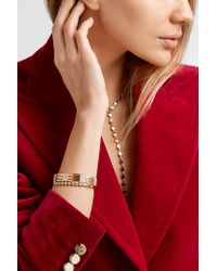 Melissa Kaye - Metallic Izzy 18-karat Gold Diamond Cuff Gold One Size - Lyst