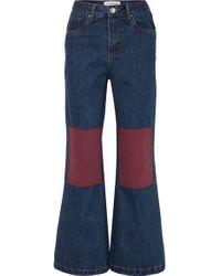 L.F.Markey Blue Big Bells Hoch Sitzende Jeans Mit Weitem Bein