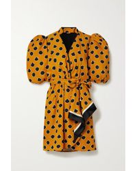 Mini-robe Effet Portefeuille En Serge Satinée Imprimée Eccentric Words Johanna Ortiz en coloris Multicolor