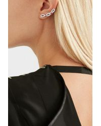 Jennifer Fisher - Metallic Chain Link Silver And Rhodium-plated Earrings - Lyst