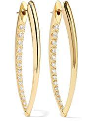 Melissa Kaye - Metallic Cristina 18-karat Gold Diamond Earrings - Lyst