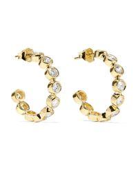 Jennifer Meyer Metallic 18-karat Gold Diamond Hoop Earrings