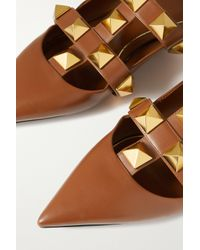Valentino Garavani Multicolor Garavani Roman Stud Flache Schuhe Aus Leder