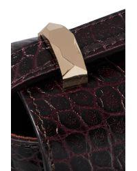 A.P.C. Brown Genève Croc-effect Leather Shoulder Bag