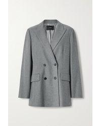 Joseph Gray Jorgan Doppelreihiger Oversized-blazer Aus Flanell Aus Einer Woll-seidenmischung