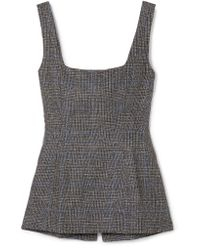 Georgia Alice - Gray Highway Checked Woven Linen Top - Lyst