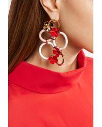 Marni - Metallic Gold-tone And Enamel Earrings - Lyst