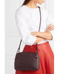 Bottega Veneta Multicolor Nodini Small Intrecciato Leather Shoulder Bag