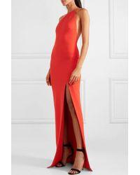 Solace London Red Petch Robe Aus Stretch-crêpe Mit Asymmetrischer Schulterpartie