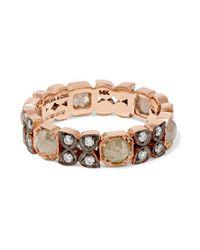 Bague En Or Rose Oxydé 14 Carats Et Diamants Sylva & Cie en coloris Metallic
