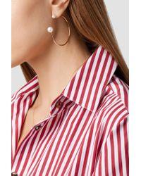 Sophie Bille Brahe Metallic Bouclé Kelly 14-karat Gold Pearl Hoop Earrings