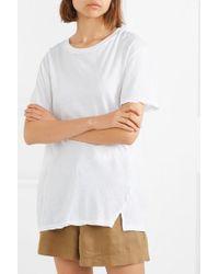 T-shirt En Jersey De Coton Biologique Stretch Bassike en coloris White