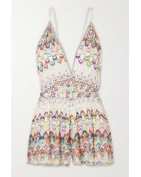 Missoni White Playsuit Aus Häkelstrick