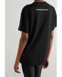 Balenciaga Black T-shirt Aus Baumwoll-jersey Mit Print