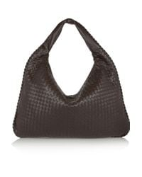 Bottega Veneta | Brown Maxi Veneta Intrecciato Leather Shoulder Bag | Lyst