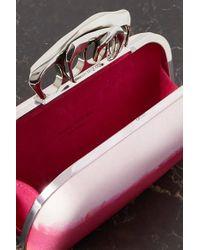 Pochette En Satin De Soie Dégradé À Ornements Four Ring Alexander McQueen en coloris Pink