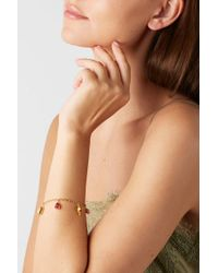 Pippa Small Metallic 18-karat Gold Spinel Bracelet