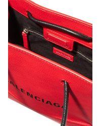 Balenciaga Red Xxs Tote Aus Strukturiertem Leder Mit Print