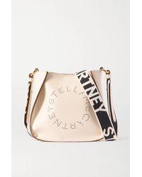 Stella McCartney White + Net Sustain Kleine Schultertasche Aus Kunstleder Mit Perforationen