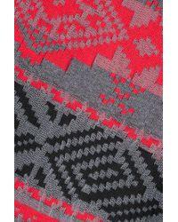 Sacai Gray Asymmetrischer Pullover Aus Jacquard Aus Einer Baumwollmischung