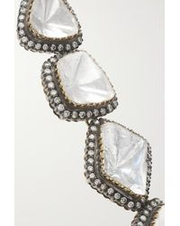 Amrapali Metallic 18-karat Gold, Sterling Silver And Multi-stone Necklace