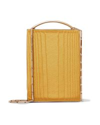 Eddie Borgo - Yellow Mak Cotton-moire And Leather Shoulder Bag - Lyst