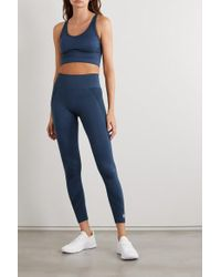 Tory Sport Blue Seamless Stretch Sports Bra