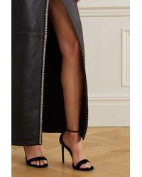 Sandales En Velours Et En Cuir Verni Success Saint Laurent en coloris Black