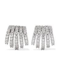 Kenneth Jay Lane Metallic Rhodium-plated Cubic Zirconia Earrings