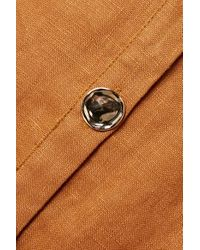 Robe Midi En Lin À Ceinture Orissa Nicholas en coloris Brown