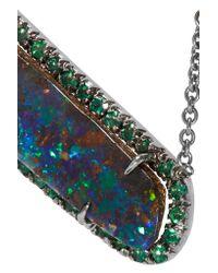 Kimberly Mcdonald | Metallic 18-karat Blackened White Gold, Opal And Emerald Necklace | Lyst