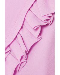 Robe Longue En Georgette À Smocks Salome Preen Line en coloris Pink