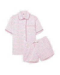 Sleepy Jones Multicolor Corita Pyjama Aus Bedruckter Baumwollpopeline