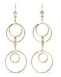 Ippolita - Metallic Glamazon Jet Set 18-karat Gold Diamond Earrings - Lyst
