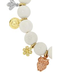 Carolina Bucci Metallic Recharmed Lucky 18-karat Yellow, Rose And White Gold And Agate Bracelet
