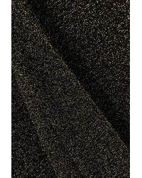 Robe Midi À Col Roulé En Lurex Canaan Nanushka en coloris Black