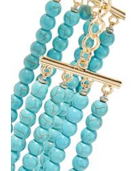 Kenneth Jay Lane - Blue Gold-plated Beaded Necklace - Lyst