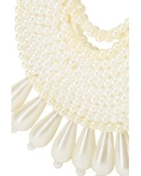 Kenneth Jay Lane - White Faux Pearl Beaded Earrings - Lyst